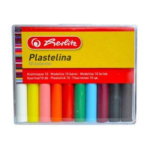 Plastilină, Set 8 / 10 Culori, Economic, Cutie Plastic, Herlitz