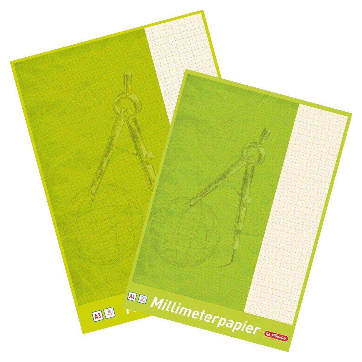 Hârtie Milimetrică, A3 & A4, Herlitz