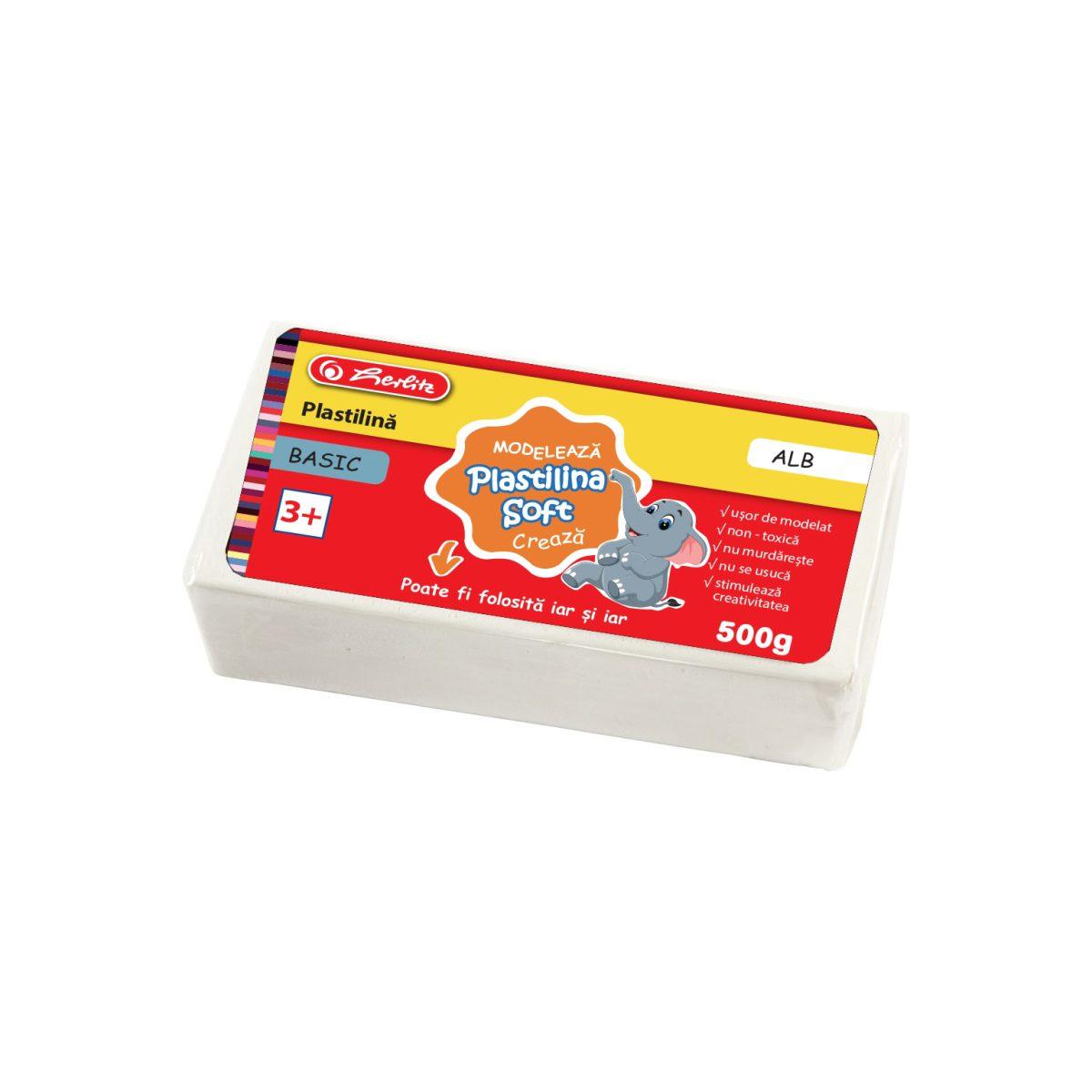 Plastilină Soft Clay, 500 Grame, Diferite Culori, Basic, Herlitz