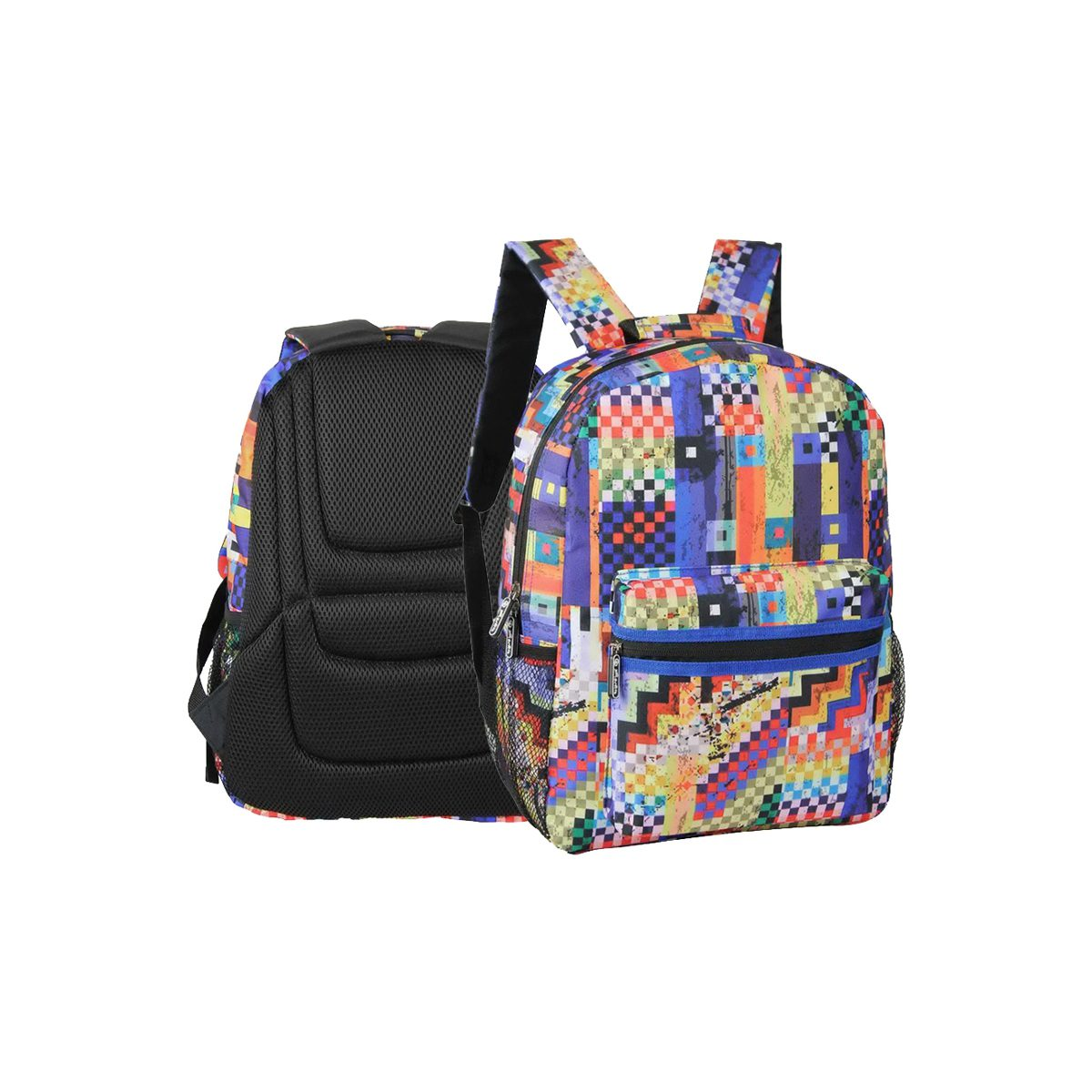 Rucsac cu un Compartiment, Colorful Checkered, Herlitz, 9465320