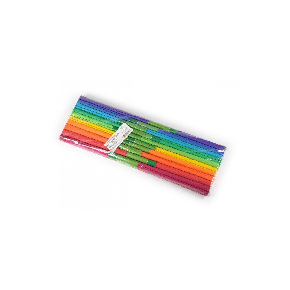 Set Hârtie Creponată, 10 Culori, Curcubeu, Koh-I-Noor, 9755-38