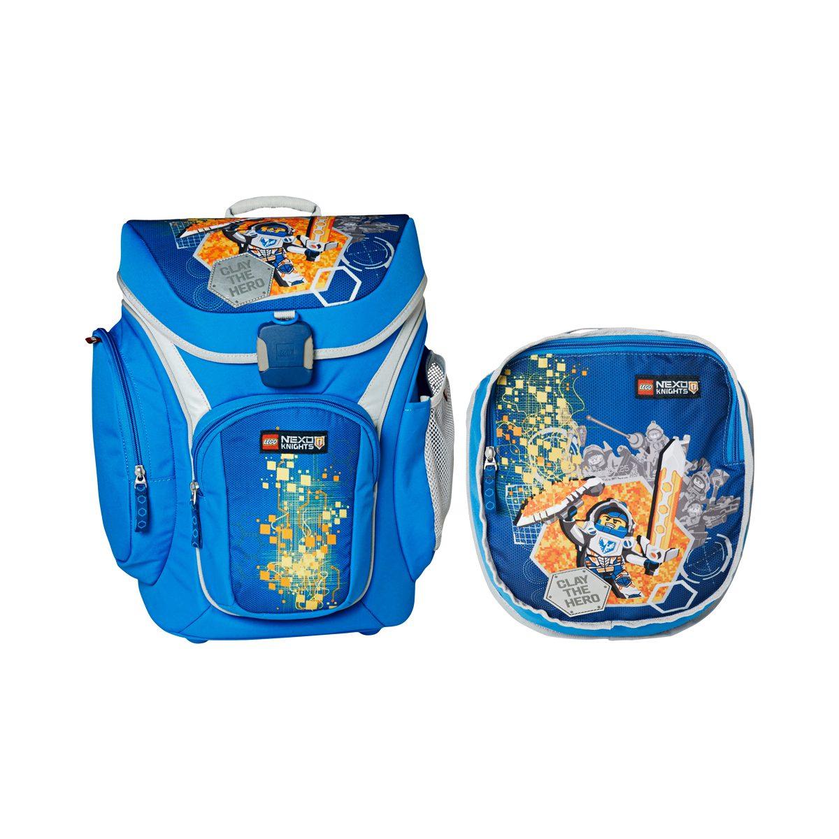 Ghiozdan Pentru Şcoală & Sac Sport, Explorer, Nexo Knights, Core Line, Bleu, Lego, LG-20018-1708
