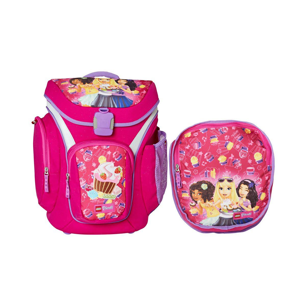 Ghiozdan Pentru Şcoală & Sac Sport, Explorer, Friends Cupcake, Core Line, Roz, Lego, LG-20018-1711