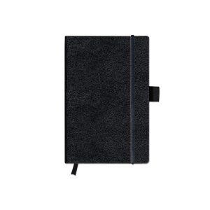 Bloc Notes A6, 96 File, Velin, Copertă din Piele Sintetică, My.Book Classic, Negru, Herlitz, 10789451