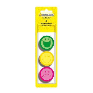 Memo Sticker, Post-It Rotund, 3 x 40 File, Smiley, Herlitz, 11238003