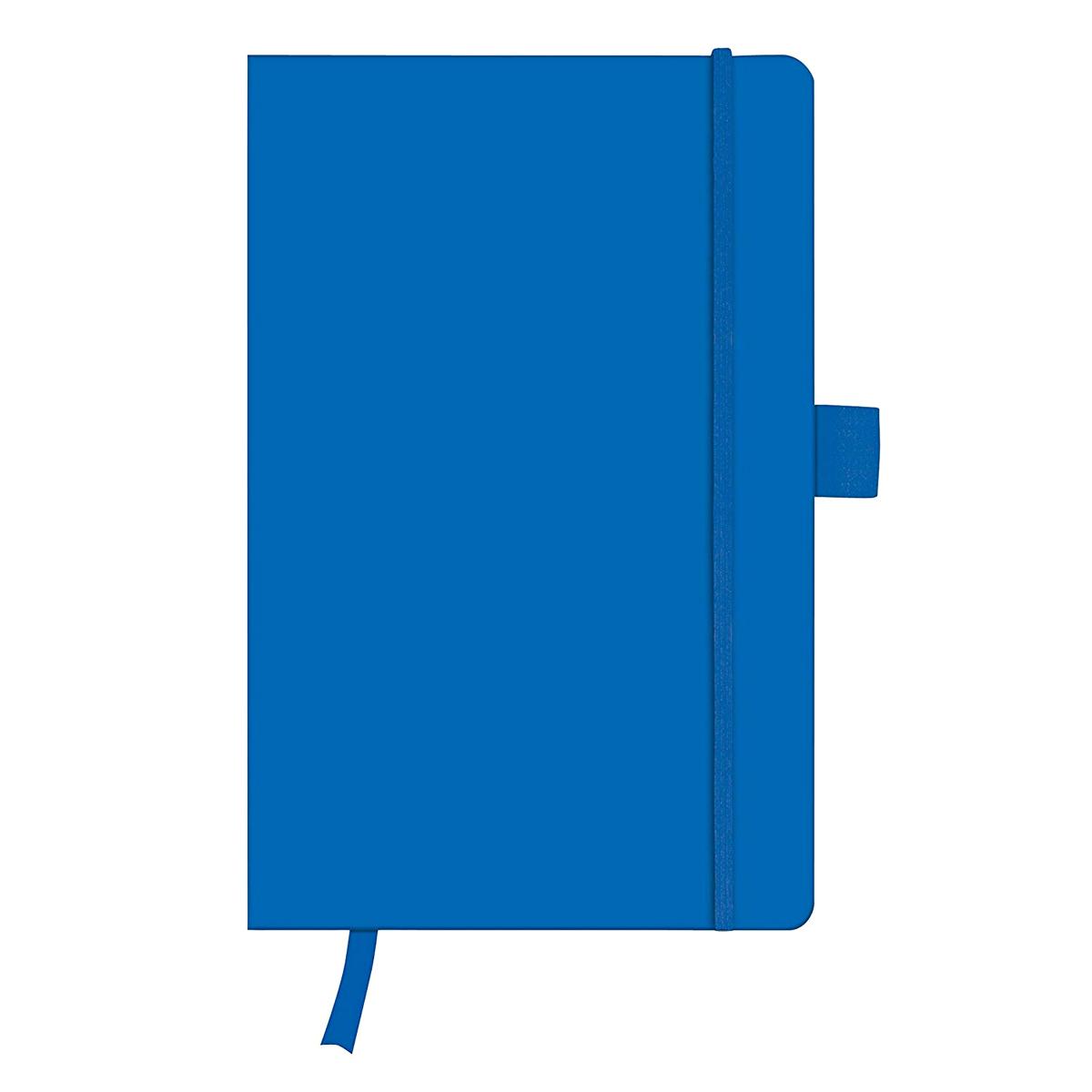 Bloc Notes A5, 96 File, Dictando, Copertă din Piele Artificială, My.Book Classic, Albastru, Herlitz, 11368990