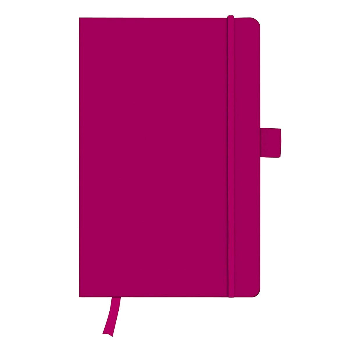 Bloc Notes A5, 96 File, Velin, Copertă din Piele Artificială, My.Book Classic, Mov, Herlitz, 11369022