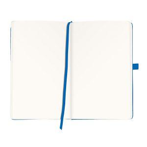 Bloc Notes A5, 96 File, Velin, Copertă din Piele Artificială, My.Book Classic, Albastru, Herlitz, 11369048
