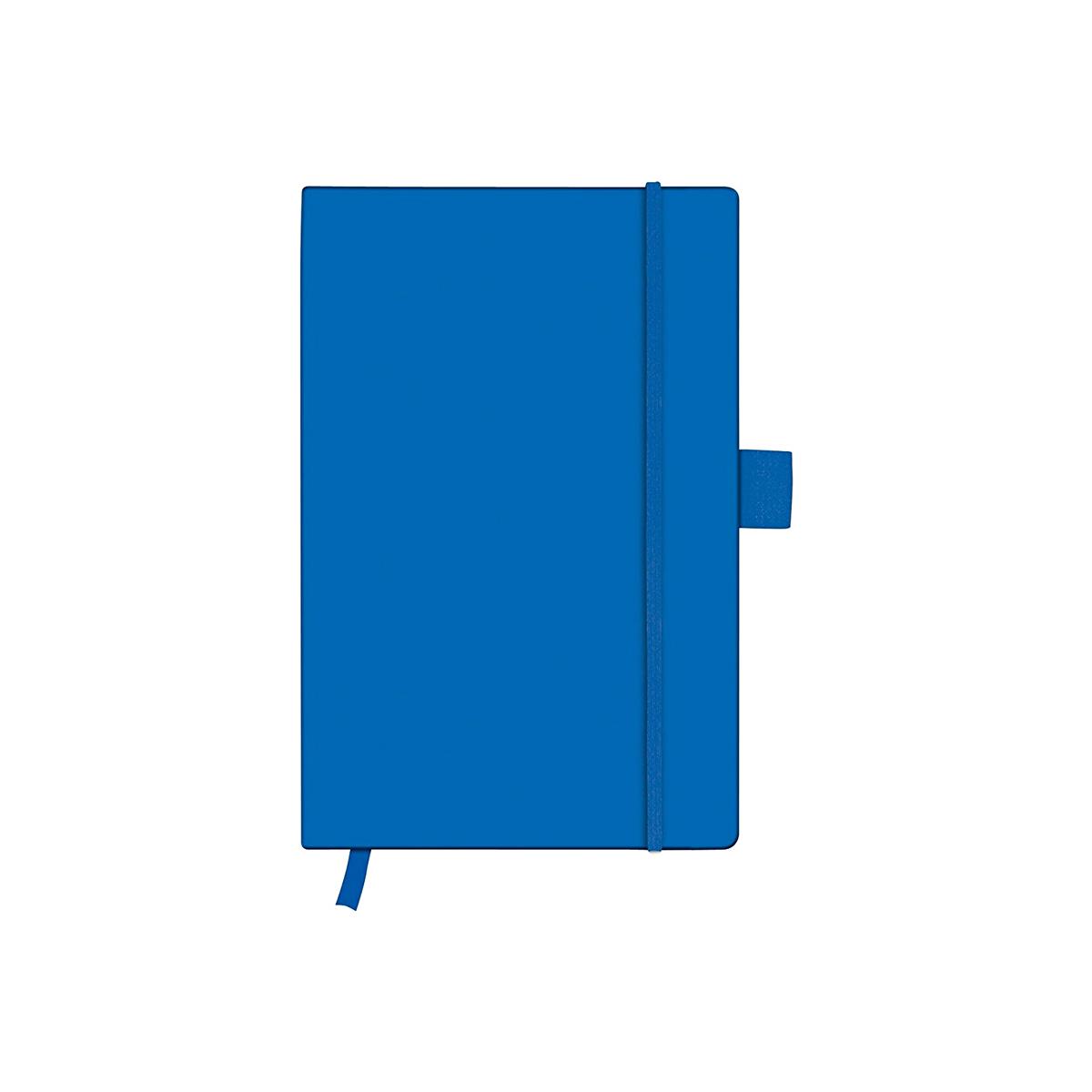 Bloc Notes A6, 96 File, Dictando, Copertă din Piele Artificială, My.Book Classic, Albastru, Herlitz, 11369121