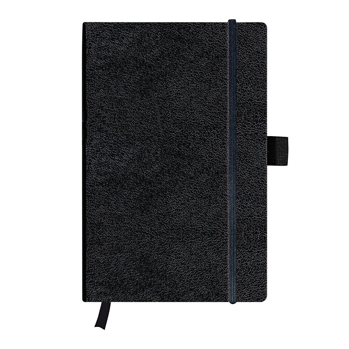 Bloc Notes A5, 96 File, Dictando, Copertă din Piele Artificială, My.Book Classic, Negru, Herlitz, 11369782