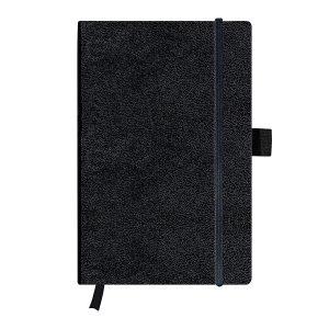Bloc Notes A5, 96 File, Velin, Copertă din Piele Artificială, My.Book Classic, Negru, Herlitz, 11369790
