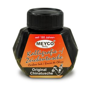 Călimară Tuş Negru Pentru Caligrafie, 50 Mililitri, Meyco, 14001