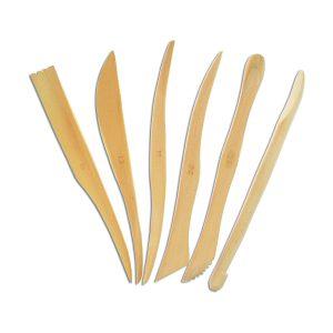 Set Unelte din Lemn Pentru Modelaj, 6 Bucăţi, Meyco, 14271
