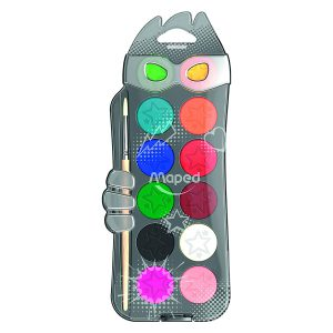 Acuarele Color'Peps, 12 Culori, 30 Milimetri, Pensulă, Maped, 811520