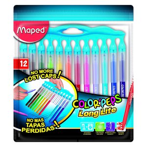 Set Carioci Color'Peps, Long Life Innovation, 12 Culori, Maped, 845045