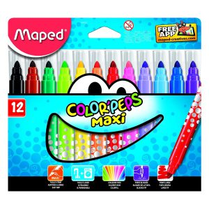 Set Carioci Color'Peps Maxi, 12 Culori, Maped, 846020