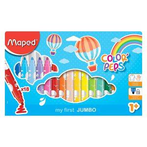 Set Carioci Color'Peps, My First Jumbo, 18 Culori, Maped, 846221