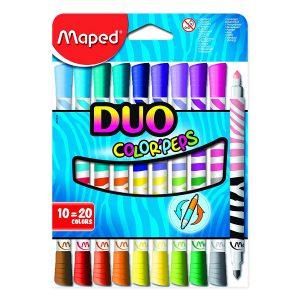 Set Carioci Color'Peps Duo, 10 Culori, Maped, 847010