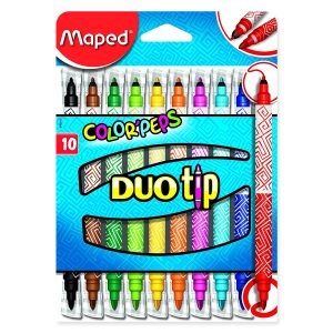 Set Carioci Color'Peps Duo Tip, 10 Culori, Maped, 849010
