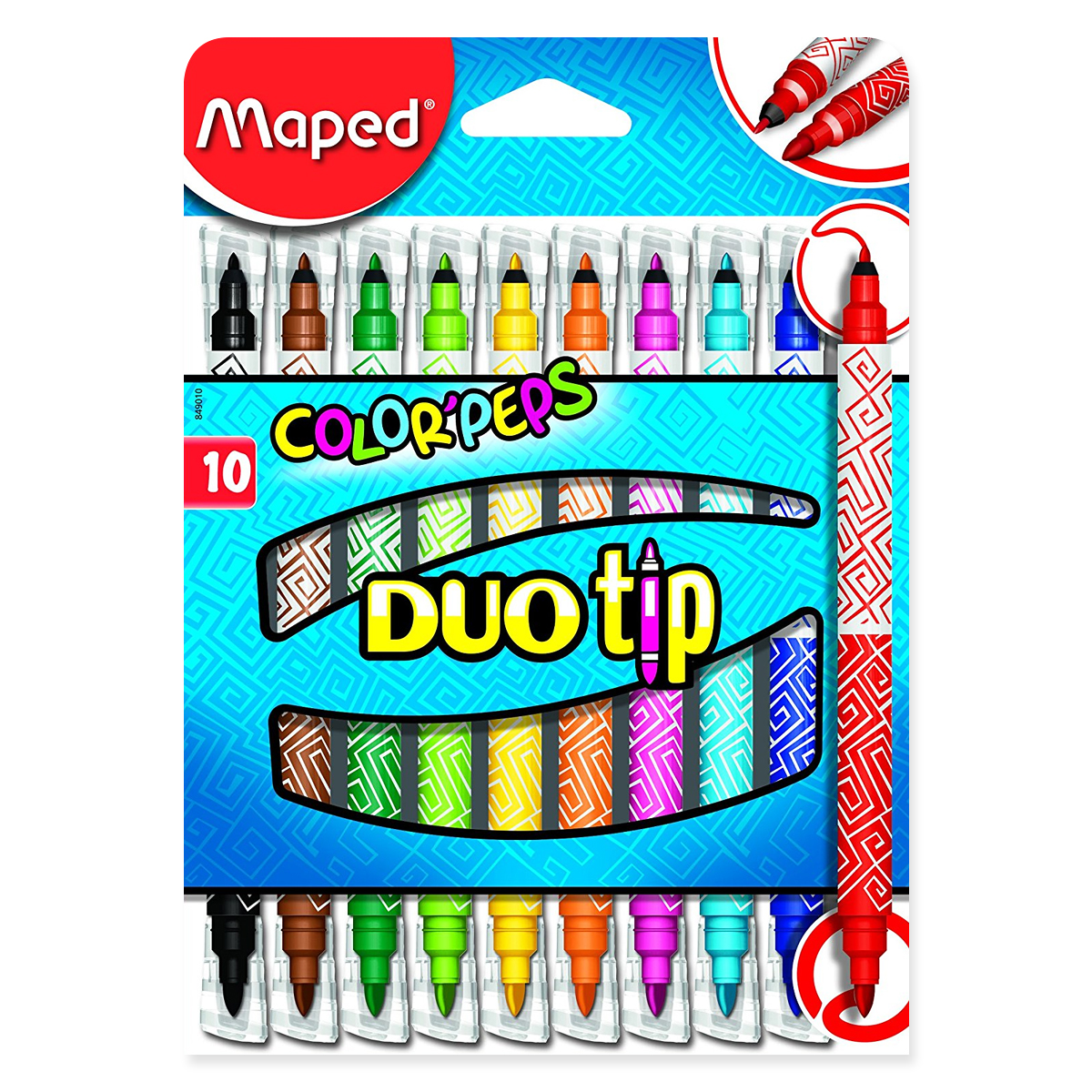 Set Carioci Color'Peps Duo Tip, 10 Culori, Maped, 849010