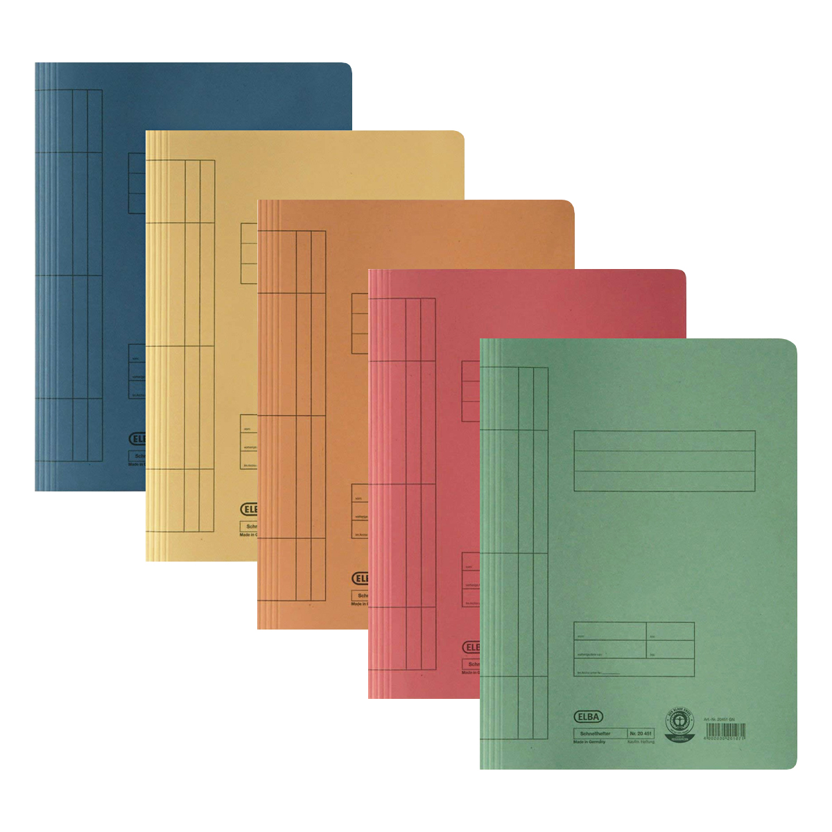 Dosar de Carton cu Şină, Diferite Culori, Elba