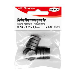 Set Magneţi, 10 Bucăţi, 15 Milimetri, Meyco, 65207