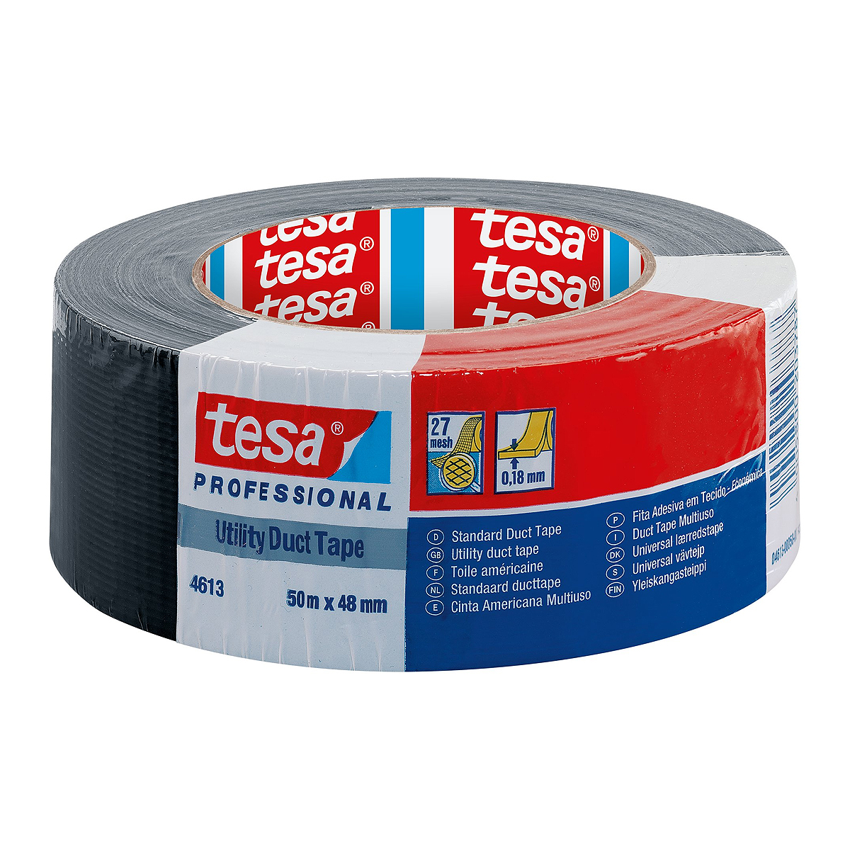 Bandă Adezivă, Duct Tape, 48 x 50 Milimetri, Tesa, 4613