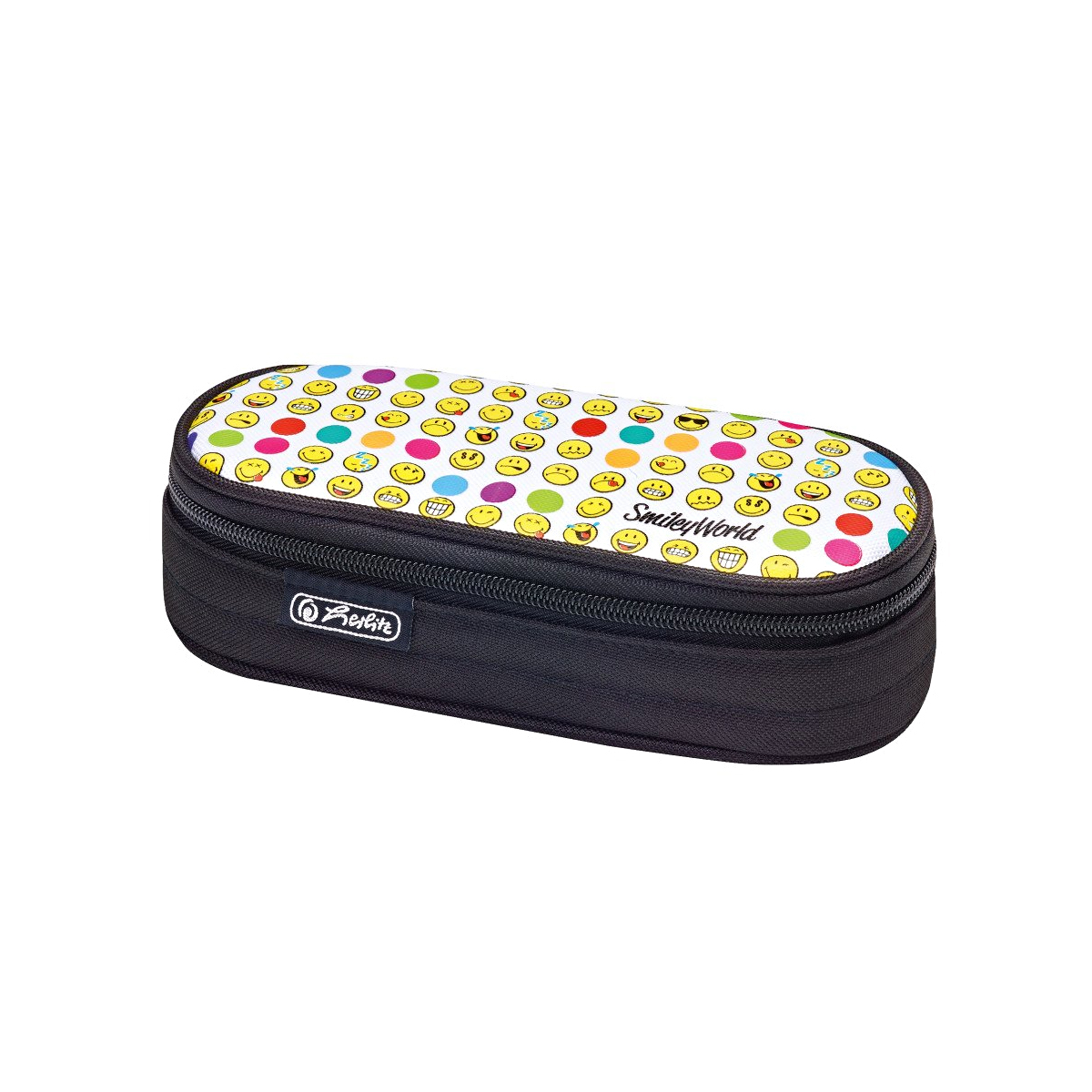 Penar Necessaire Oval, Motiv Smileyworld, Rainbow Faces, Herlitz, 50015214