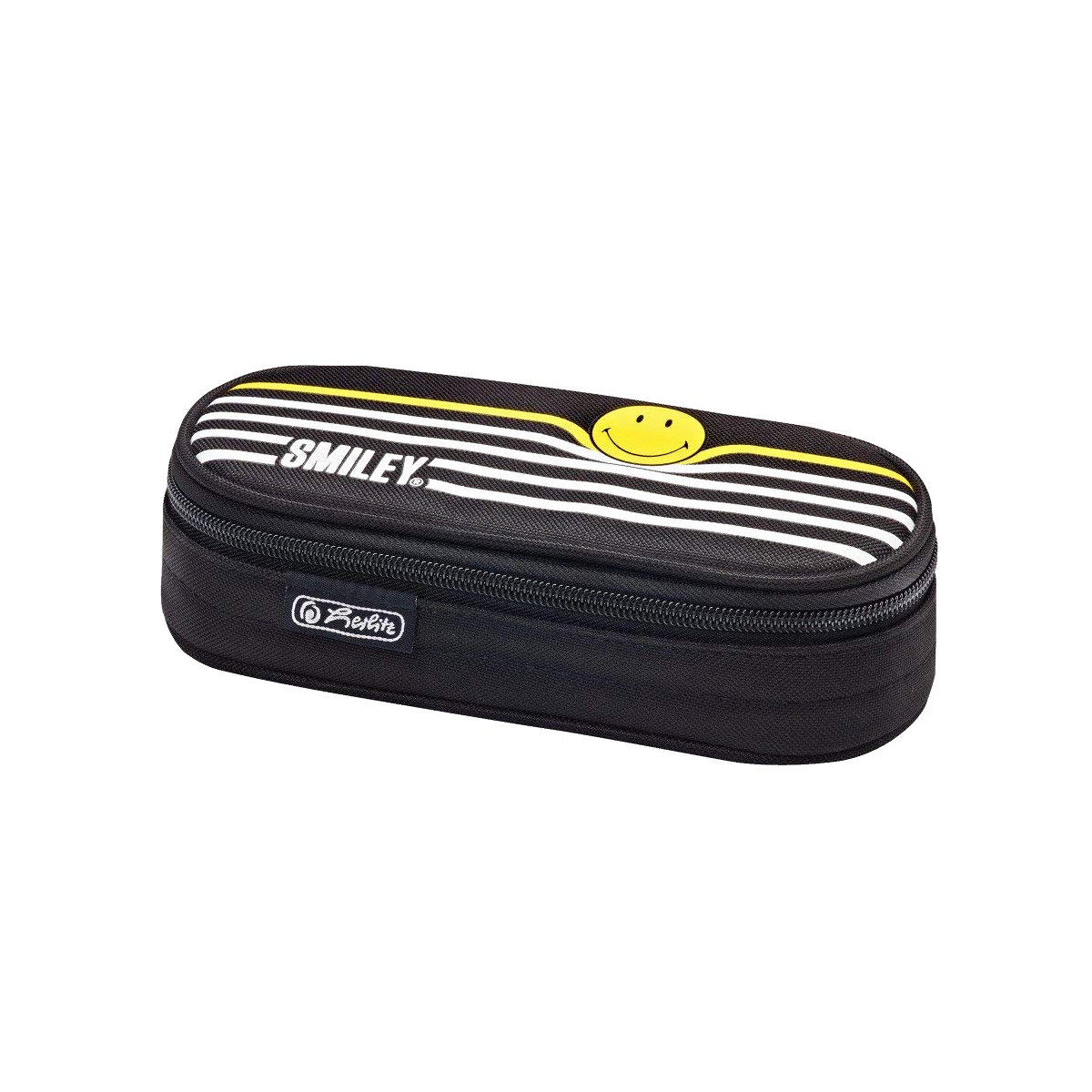 Penar Necessaire Oval, Motiv Smileyworld, Black Stripes, Herlitz, 50015221