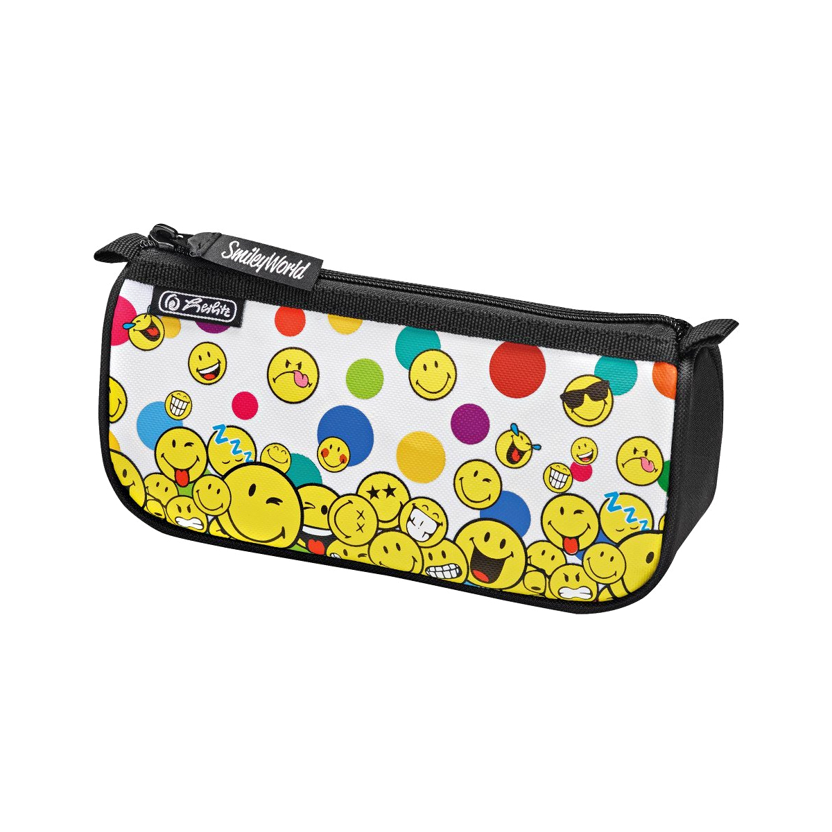 Penar Necessaire, Triunghiular, Sport, Smileyworld Rainbow Faces, Herlitz, 50015344