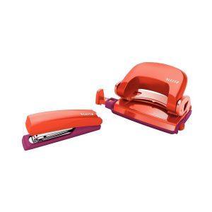 Set Mini-Perforator & Mini-Capsator, Urban Chic, Portocaliu & Grena, Leitz, 55996024