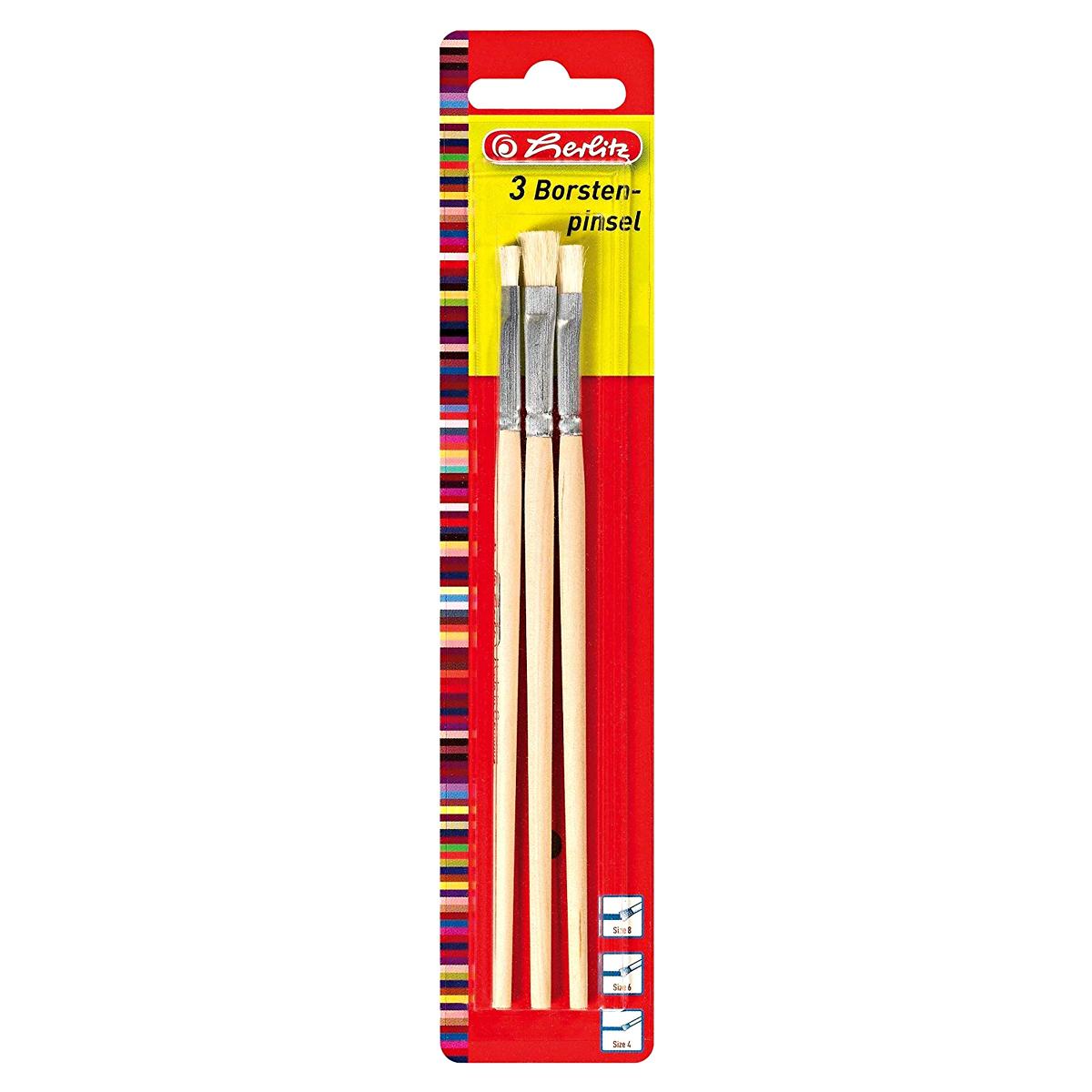 Set Pensule, Lemn Natural, 3 Bucăţi, Herlitz, 8644205