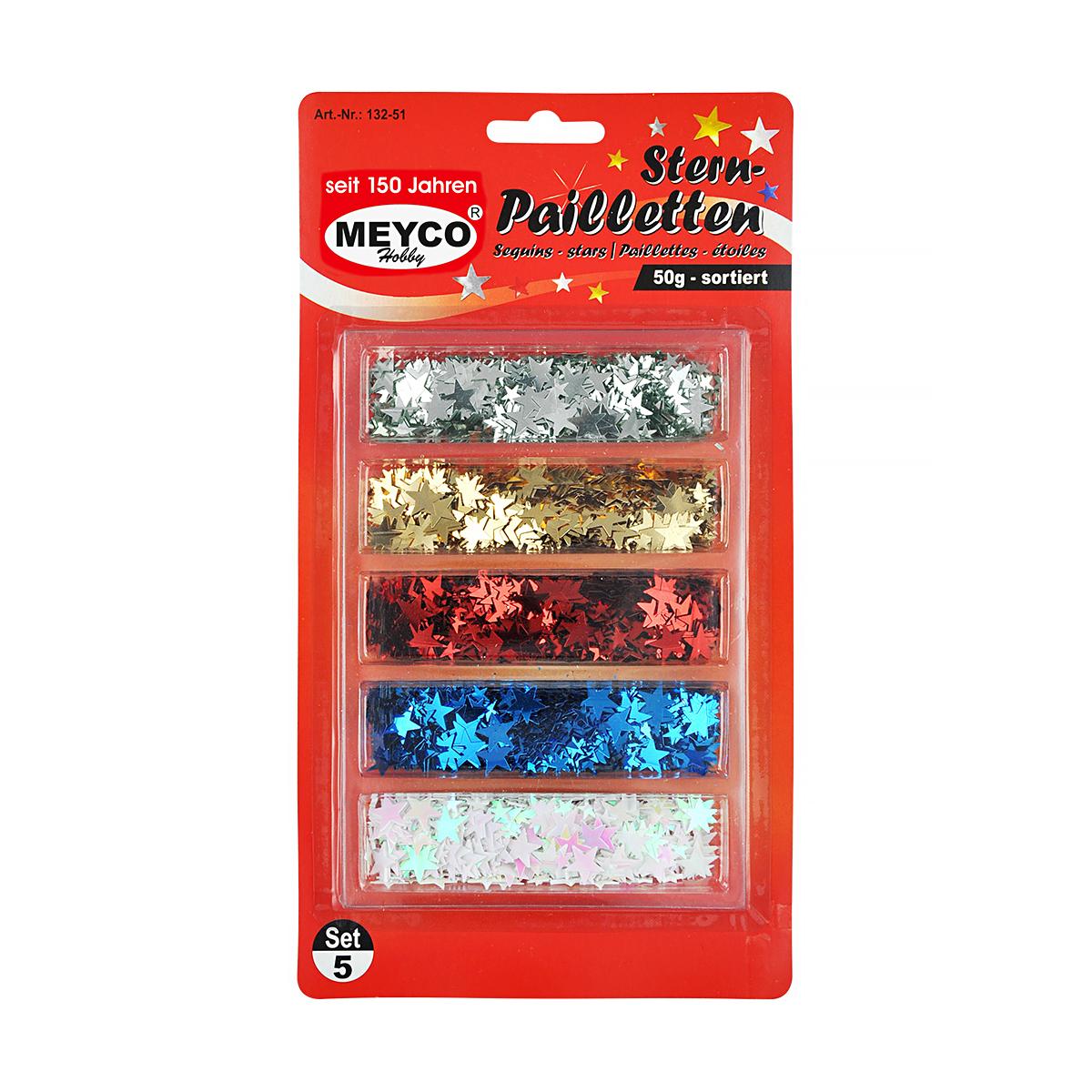 Paiete Stelate, 50 Grame, Multicolor, Meyco, 132-51