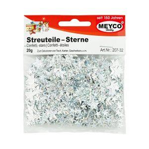 Confetti Steluțe, 20 Grame, Argintii, Meyco, 207-32