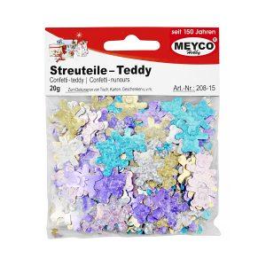 Confetti Ursuleți, 20 Grame, 5 Culori Asortate, Meyco, 208-15