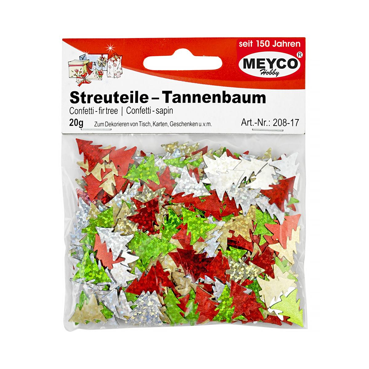 Confetti Brăduți, 20 Grame, Multicolor, Meyco, 208-17