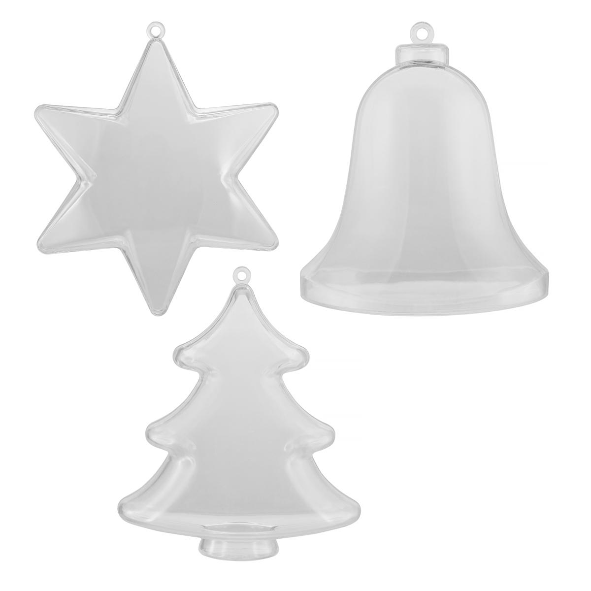 Forme din Plastic, Transparente, Diferite Forme, 100 Milimetri, Meyco, 45107, 45108, 45109
