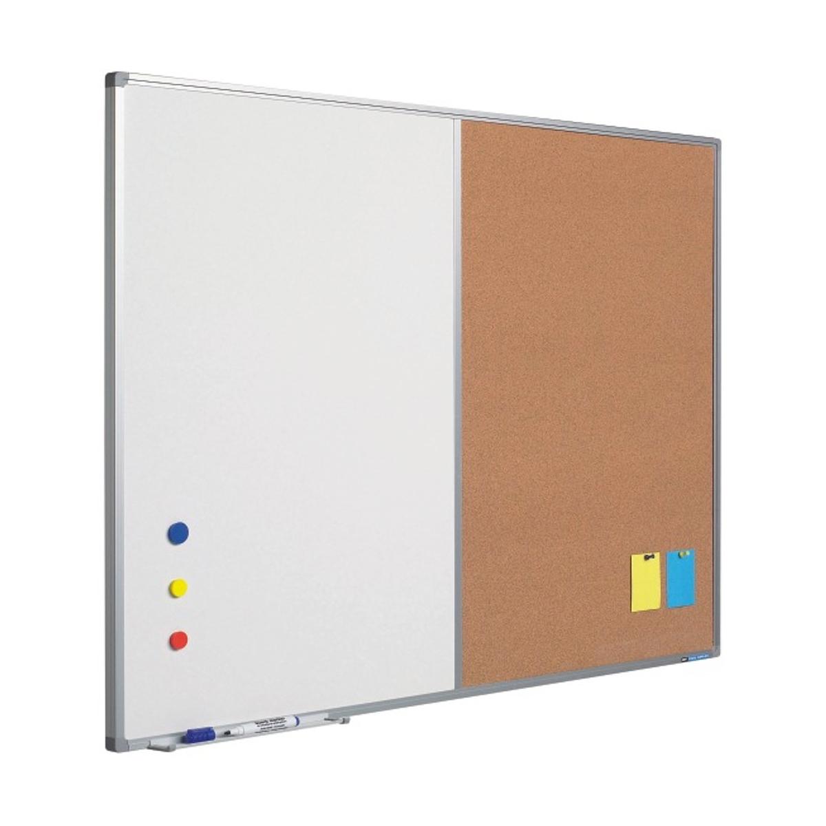 Tablă Combi, Whiteboard & Plută, Profil Aluminiu SL, Diferite Dimensiuni, SMIT, 11404100, 11404110