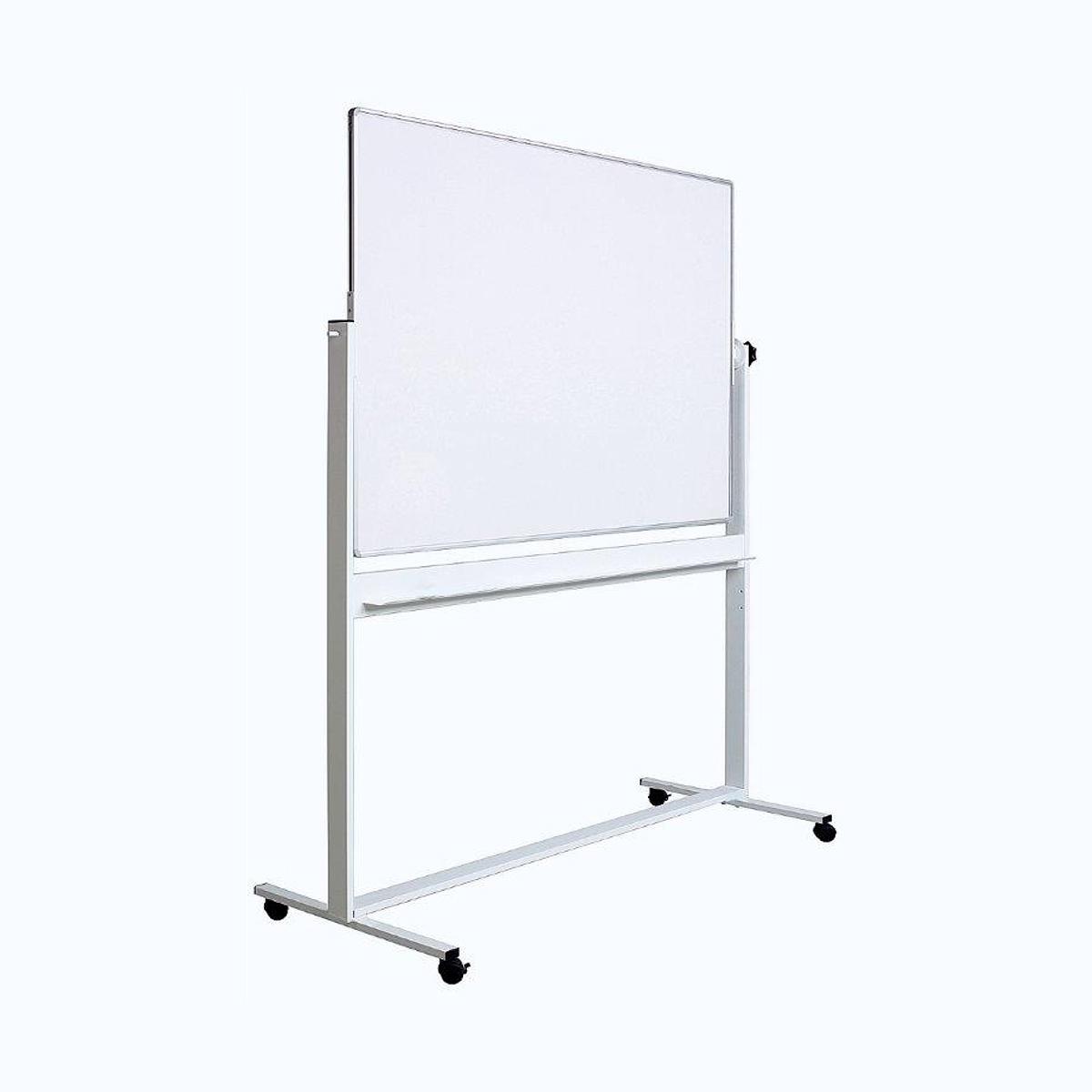 Tablă Albă Magnetică, Față Dublă, Rotativă, Stand Mobil, Profil Aluminiu, Diferite Dimensiuni, Optima, OP-25090120, OP-25100150, OP-25100180, OP-25100200, OP-25120180