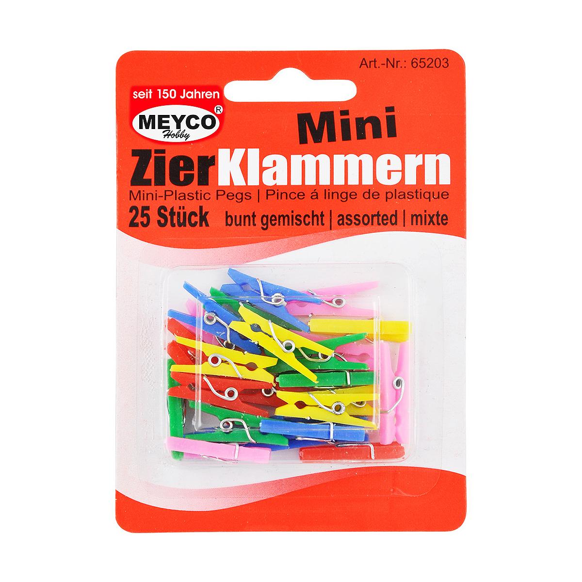Set Cârlige Decorative din Plastic, Diverse Culori, 25 Bucăți, Meyco, 65203