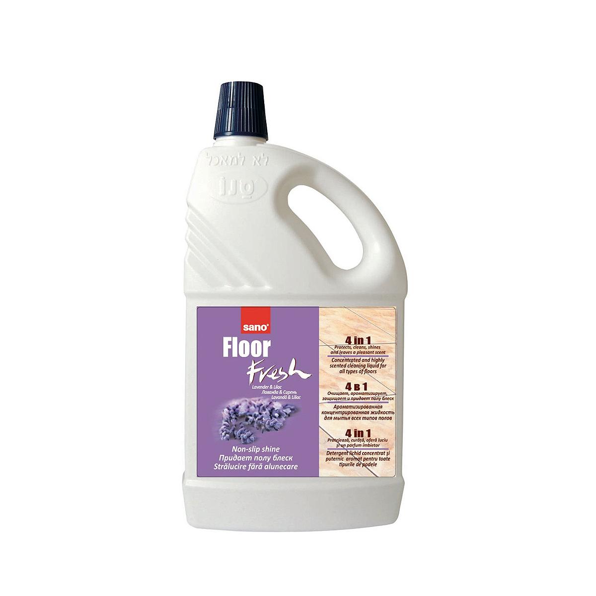 Detergent Pentru Pardoseli, 2 Litri, Fresh Lavandă & Liliac, Sano Floor, 117350