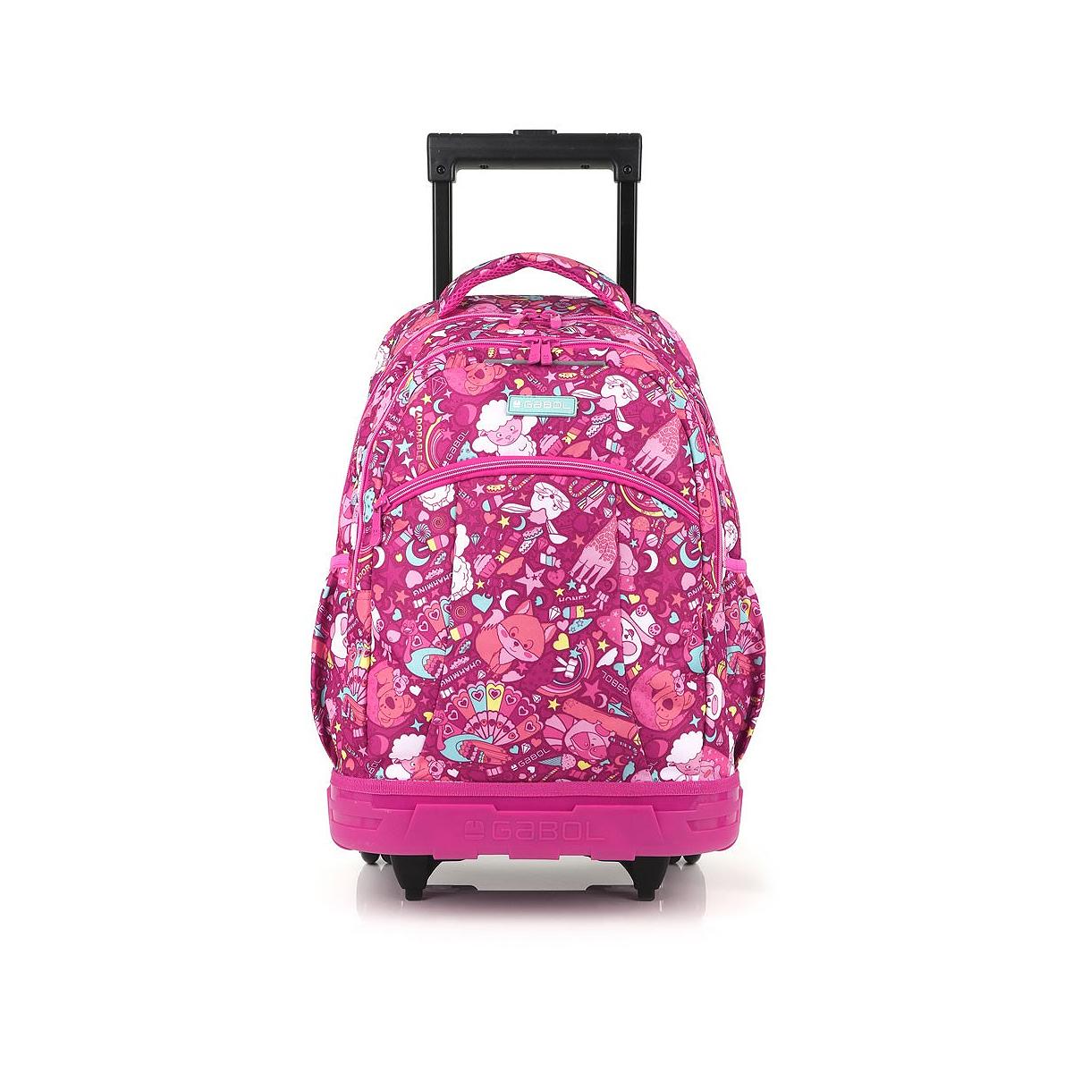 Ghiozdan Troller, Două Compartimente, Roz, Model Toy, Gabol, 224447