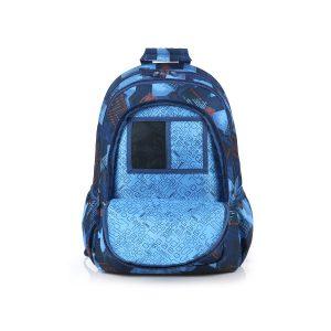 Ghiozdan, Trei Compartimente, Albastru, Model Noise, Gabol, 225940