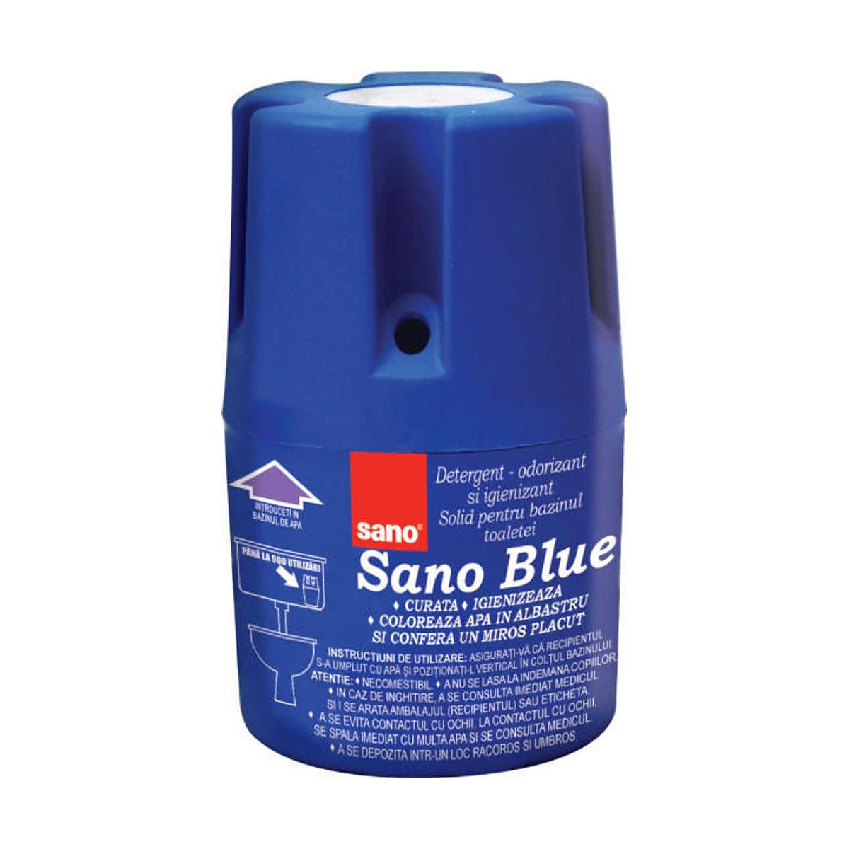 Odorizant Solid Pentru Bazin WC, 150 Grame, Blue Flash, Sano, 287607
