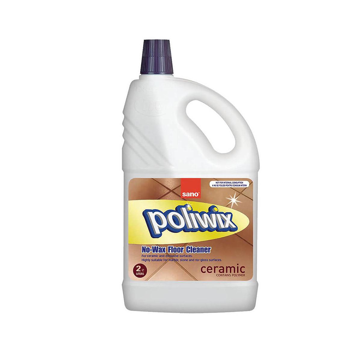 Detergent Pentru Pardoseli, Poliwix Ceramic, 2 Litri, Sano, 327041214