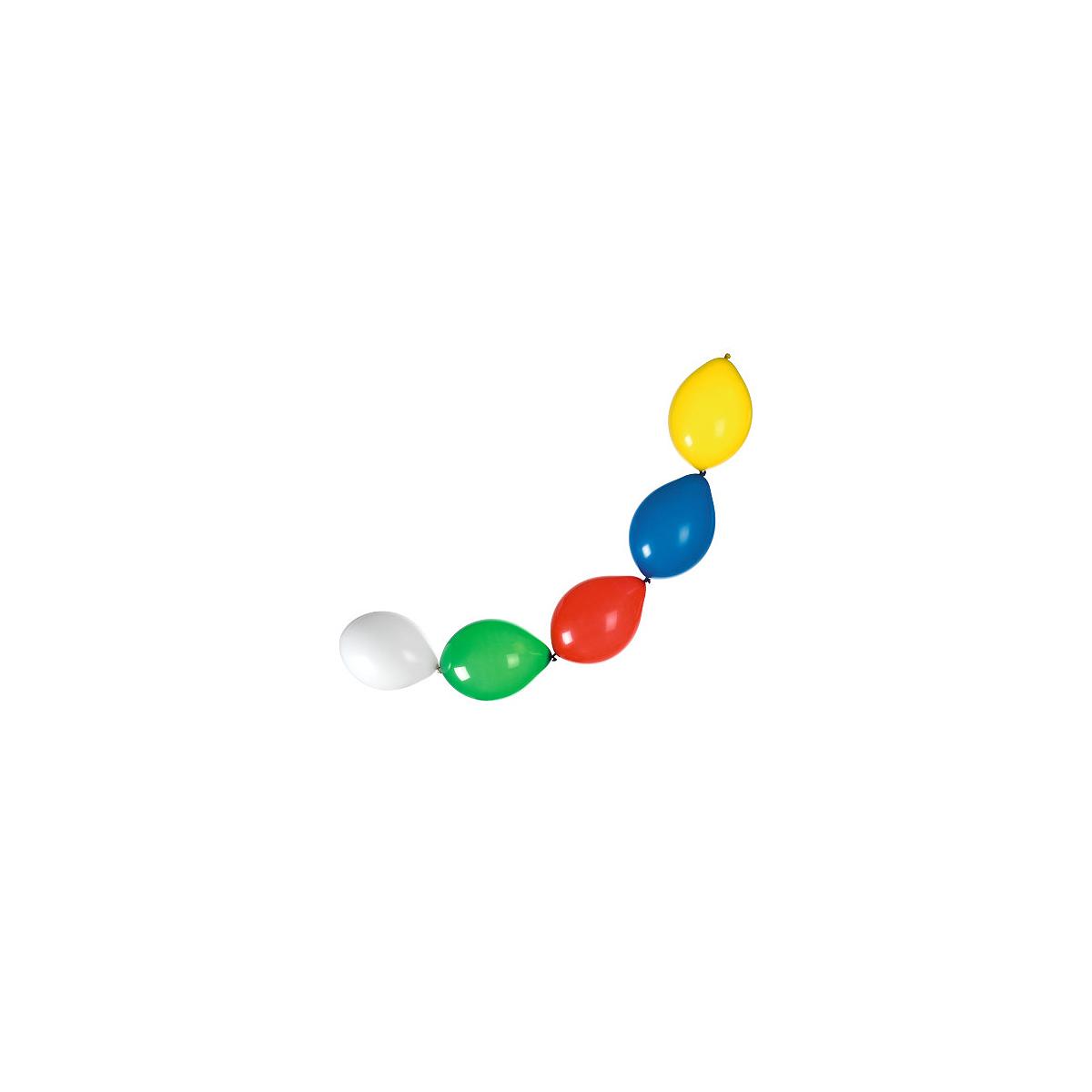 Set Ghirlandă Baloane, Diverse Culori, 12 Bucăți, Herlitz, 40011561