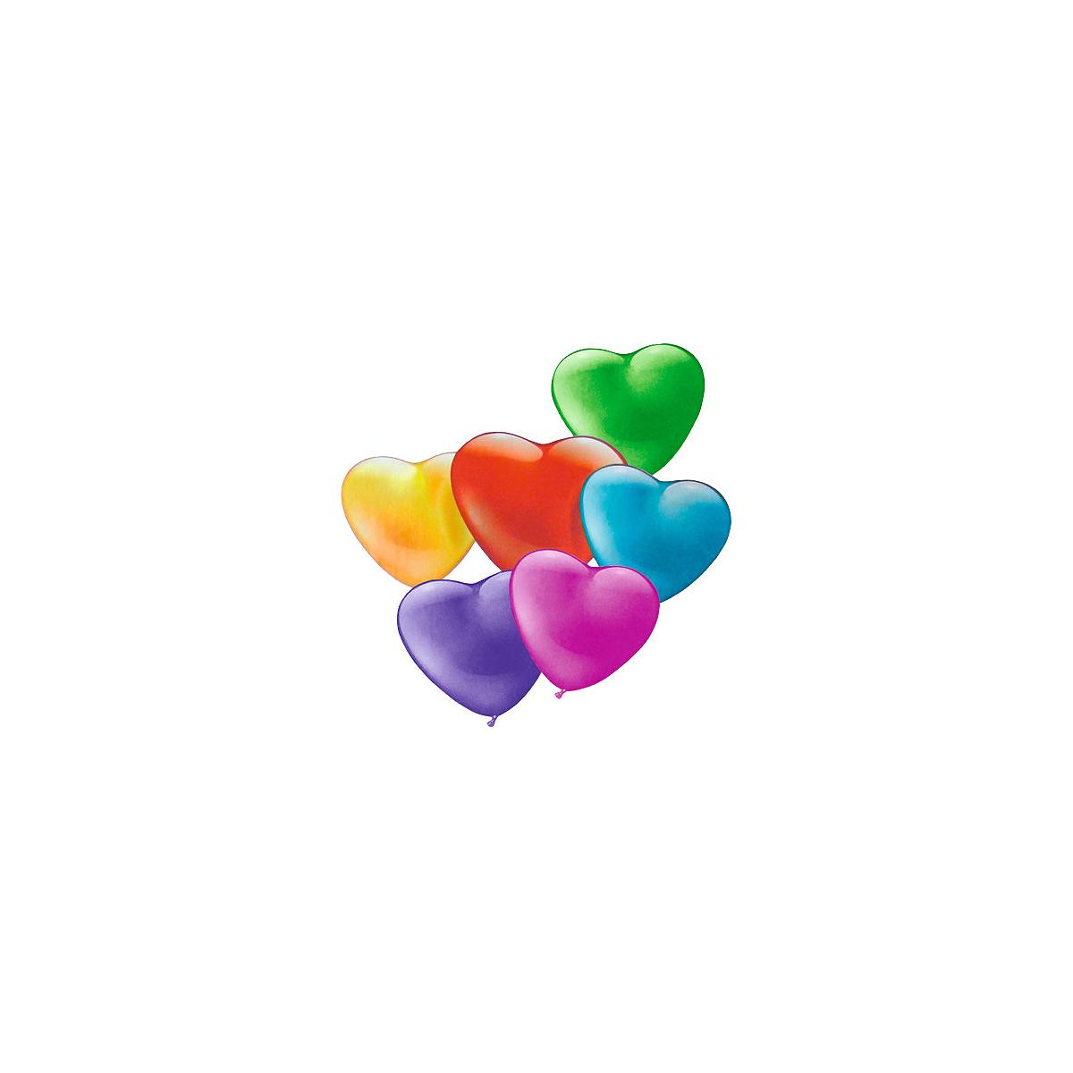 Set Baloane Mini, Formă de Inimă, Diverse Culori, 20 Bucăți, Herlitz, 40011677