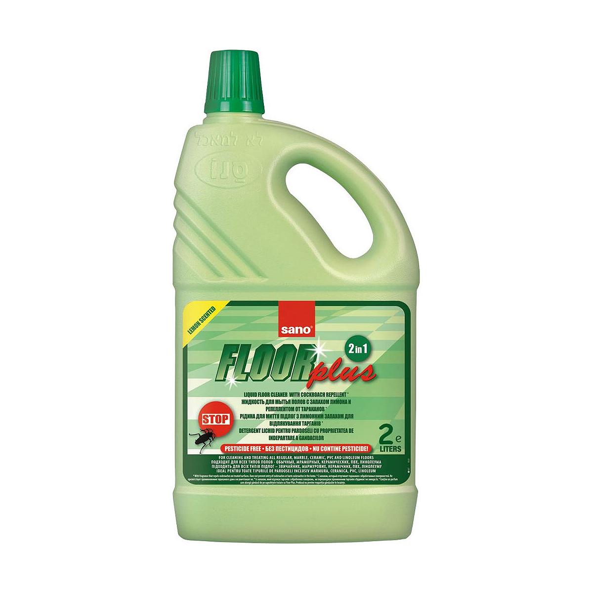 Detergent Pentru Pardoseli, 2 Litri, Plus, Sano Floor, 423635