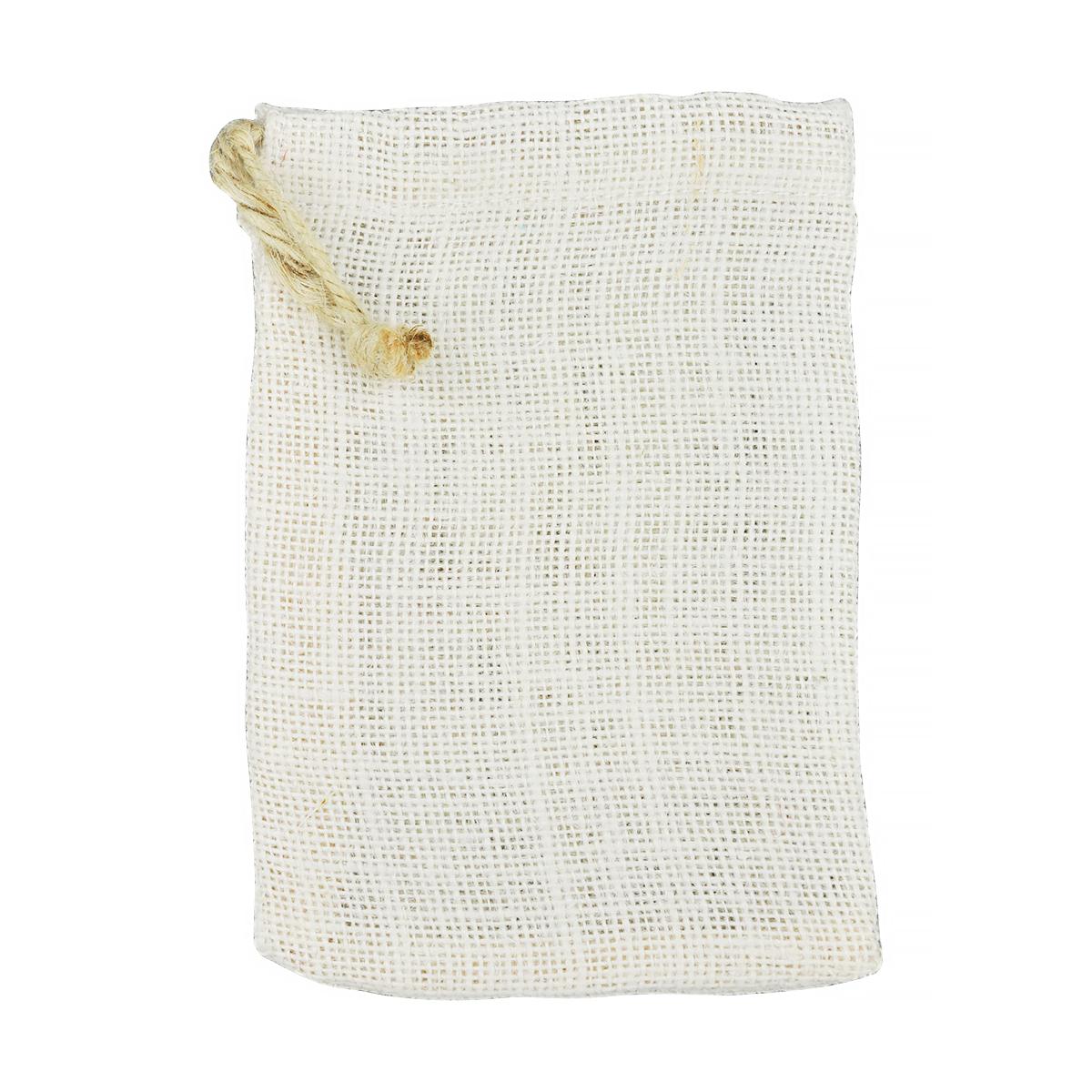 Sac de Iută cu Șnur, 12 x 17 Centimetri, Alb, Meyco, 23233
