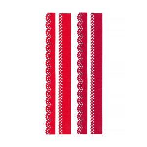 Bandă Decorativă din Pâslă, 4 Bucăți, Roșu și Bordo, Meyco, 23565
